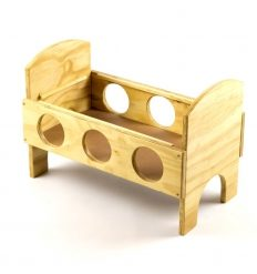 Cot Natural Wood cm