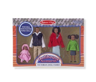 2689 African Amerian Victorian Doll Family