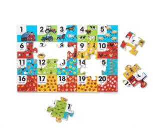 31002 Farm Number Floor Puzzle