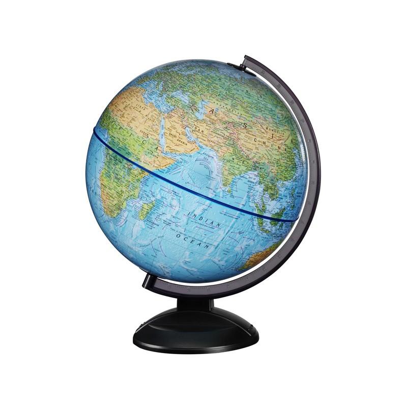 370 World Globe Blue Illuminated 30cm