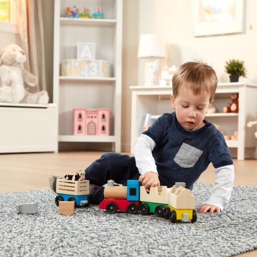 4545 Wooden Farm Train Toy Set Amz Apluspremium Ft M1