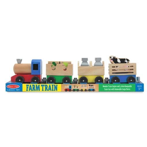 4545 Wooden Farm Train Toy Set Amz Apluspremium Ft M2