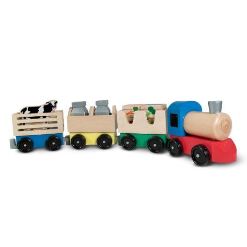 4545 Wooden Farm Train Toy Set Amz Apluspremium Ft M5