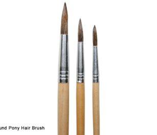 482 Round Pony Hair Brush