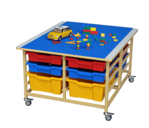 Activity Building Block Table With Storage Bin