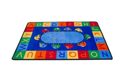 Cars Alphabet & Numbers Carpet Rectangle Large