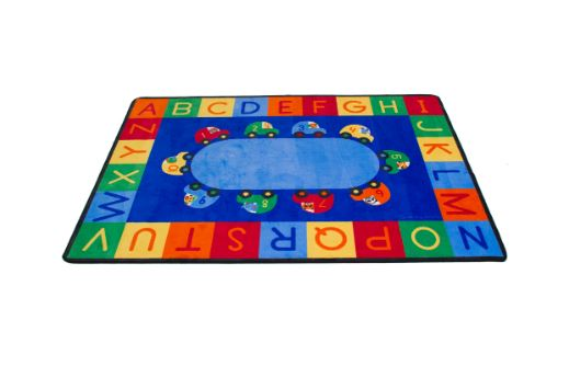 Cars Alphabet & Numbers Carpet Rectangle Small
