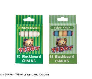 Chalk Sticks White Or Assorted Colours