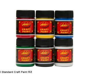 Craft Paint Standard 6 X 50ml Kit 2