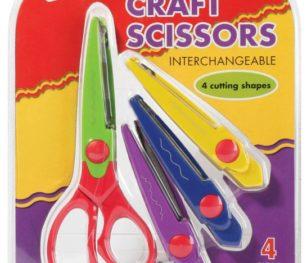 Craft Scissors Interchangeable 4pc