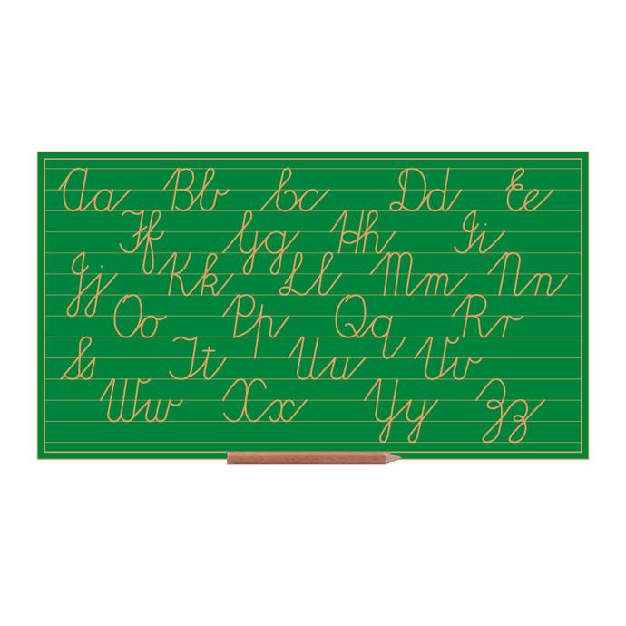 Cursive Alphabet Boards Capital Lower C Letters (w Line)