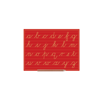 Cursive Alphabet Boards Lower Case Letters (w Lines)