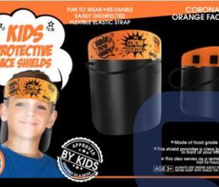 Face Shield Corona Fighter (orange)