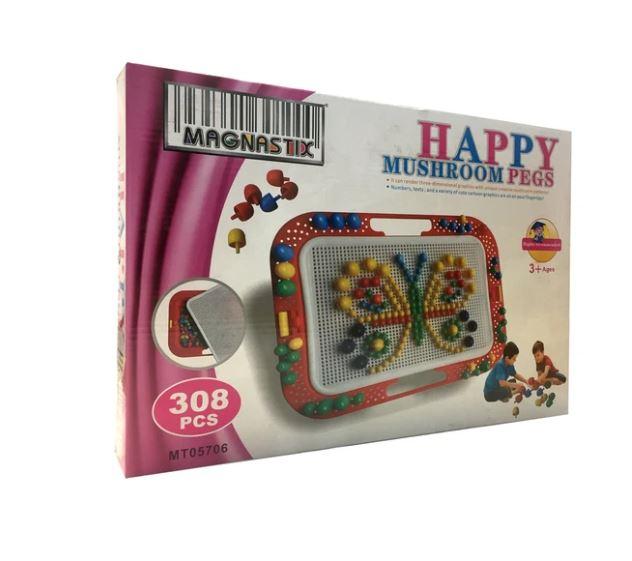 Happy Mushroom Pegs
