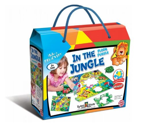 In The Jungle Floor Puzzle 24pc