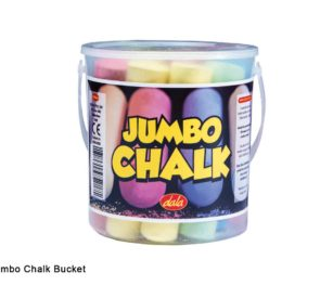 Jumbo Chalk (sidewalk Chalk) Bucket 12pc