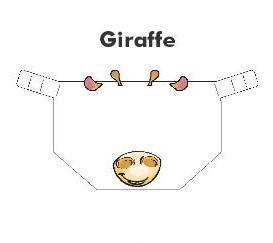 Kiddies Animal Design Shields Giraffe