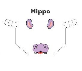 Kiddies Animal Design Shields Hippo