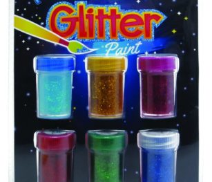 Kids Colour Glitter Paints 6pce