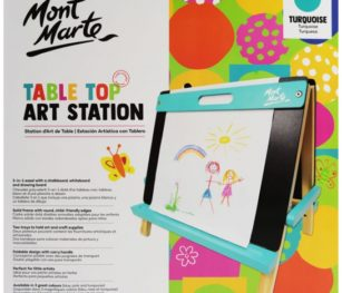 Kids Tabletop Art Station – Turquoise