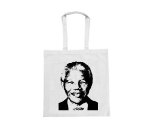 Nelson Mandela In Black Print