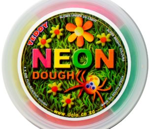Neon Play Dough Tub 60g