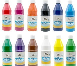 Paint For Kids Washable Bulk Pack 500ml 12 Colours