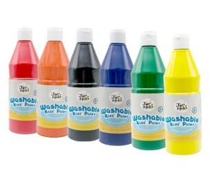 Paint For Kids Washable Bulk Pack 500ml 6 Colours