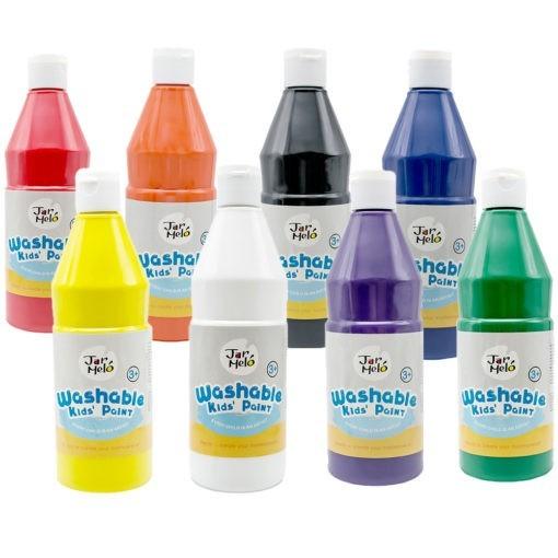 Paint For Kids Washable Bulk Pack 500ml 8 Colours