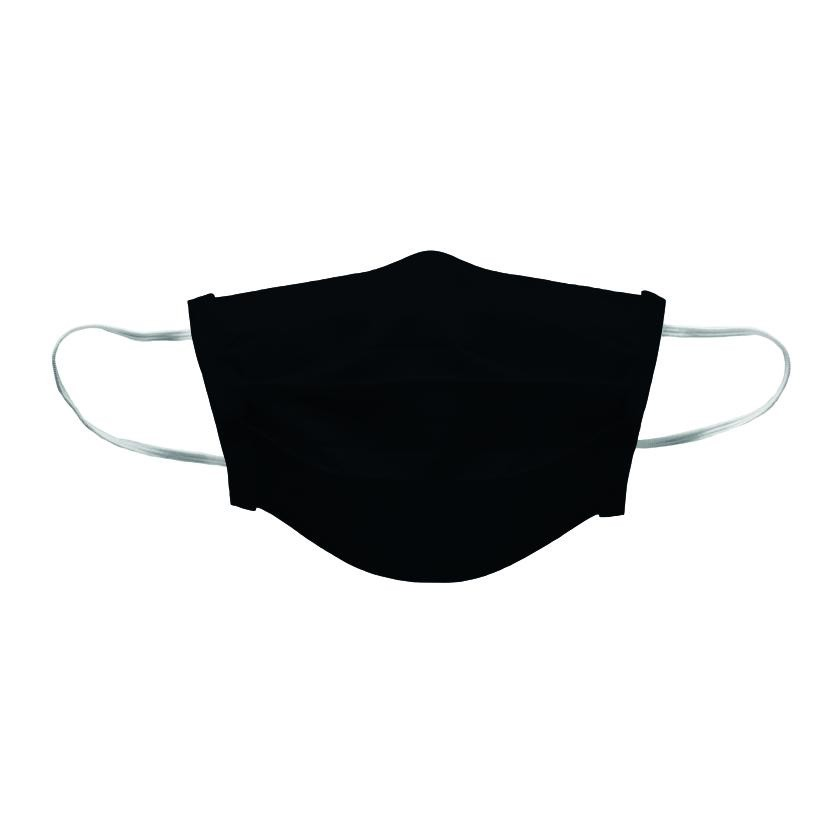 Quick Dry Reusable Face Mask Black Single Layer