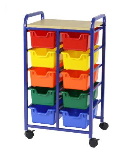 Roll & Storage Bin Organiser 10 Bin Flat