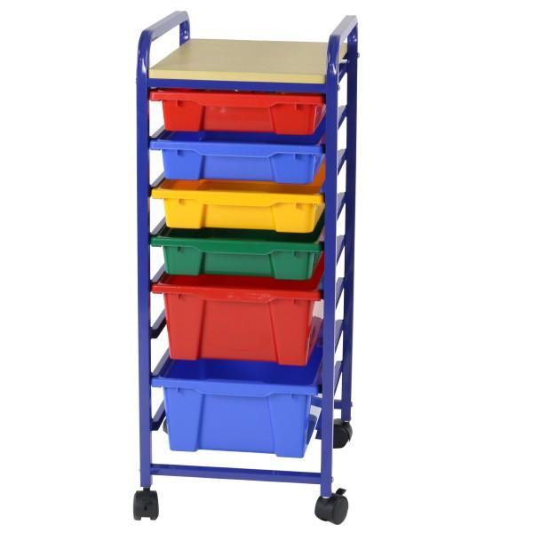 Roll & Storage Unit 6 Bin Flat