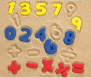 Sand Moulds Numbers 26pc Polybag