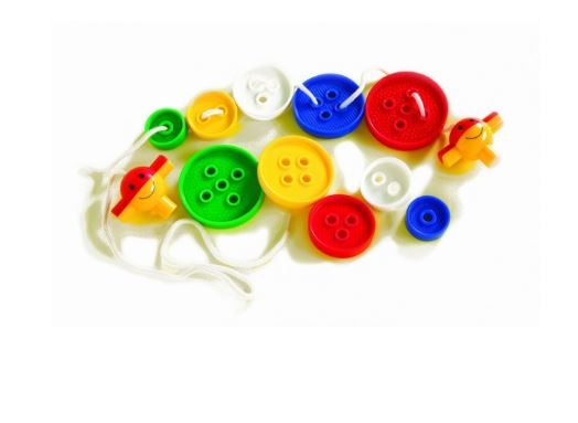 Sequencing Buttons 72pcs 5 Sizes & 5 Colours Container