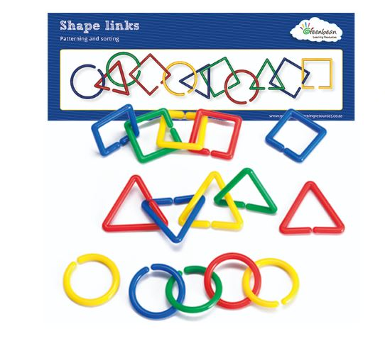 Shape Link Activity Set (100pcs & Cards)