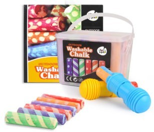Sidewalk Chalk W 2 Holders Washable 24 Colour Kit 1