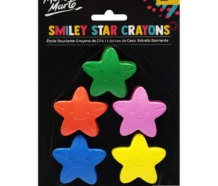 Smiley Star Crayons 5pce