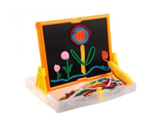 Squiggle Velcro Lace Drawing Board 58pc Set Colour Box