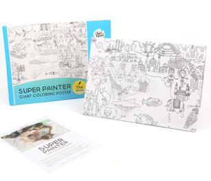 Super Painter Giant Coloring Poster Pads The World 1