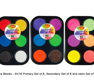 Tempera Blocks Sets Of 6 X Secondary And 6 X Neon