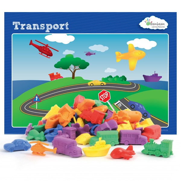 Transport Counters 72pcs & Activity Cards Pbag