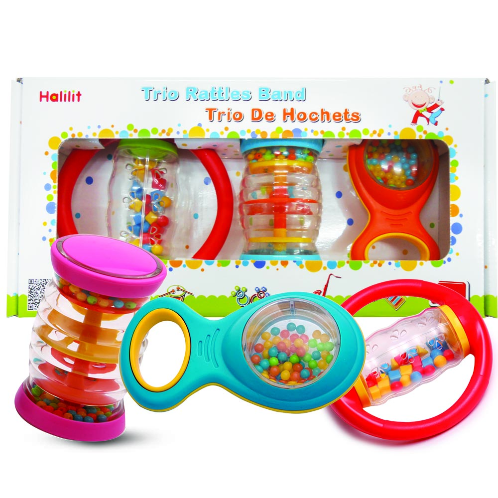 Trio Rattle Band Gift Set Of 3