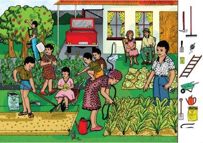 Vegetable Garden Poster Rgs Stp03
