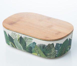 Blb931 Lunch Box Exotic Leaves