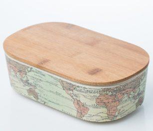 Blb934 Lunch Box World Map