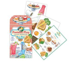Eeboo Best Pals Diner Pretend Play Stickers