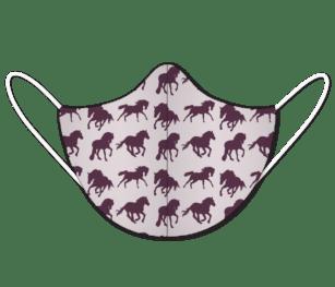 Facemask Kids Impression2 Panels Horse Silhouettepattern Burgundy