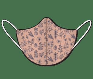 Floralpattern Dustypink&navy