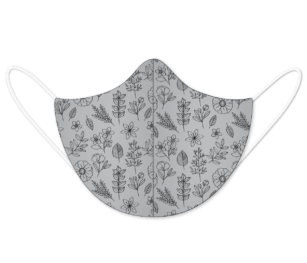 Floralpattern Grey30&black